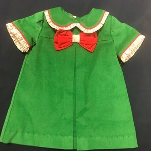 Dresses - Marco and Lizzy Christmas Green Corduroy Dress